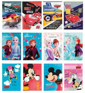 NOTES A6 LICENCE FROZEN II, CARS, MINNIE & MICKEY - 30 listů